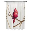 e by design Cardinal Print Shower Curtain