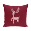 e by design Deer Crossing Decorative Holiday Animal Print Throw Pillow