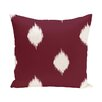 e by design Hol-I-kat Decorative Holiday Ikat Print Throw Pillow