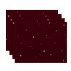 e by design Shining Stars Holiday Geometric Print Placemat (Set of 4)