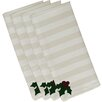 e by design Holly Tones Holiday Stripe Print Napkin (Set of 4)