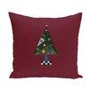 e by design Crazy Christmas Decorative Holiday Print Throw Pillow