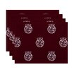 e by design Fancy-Bulb Holiday Print Placemat (Set of 4)