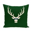 e by design Cool Dude Decorative Holiday Animal Print Throw Pillow