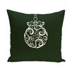 e by design Fancy-Bulb Decorative Holiday Print Throw Pillow
