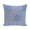 e by design Flurries Decorative Holiday Print Throw Pillow