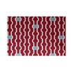 e by design Nuts and Bolts Decorative Holiday Geometric Print Red Indoor/Outdoor Area Rug