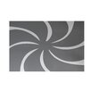 e by design Whirl of the Season Decorative Holiday Geometric Print Gray Indoor/Outdoor Area Rug