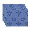 e by design Flurries Holiday Print Placemat (Set of 4)