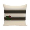 e by design Holly Stripe Decorative Throw Pillow