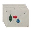 e by design Light Bright Holiday Print Placemat (Set of 4)