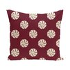 e by design Whirl of the Season Decorative Holiday Geometric Print Throw Pillow