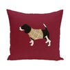 e by design Warmest Wishes Decorative Holiday Animal Print Throw Pillow