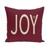 e by design Joy ed Season Decorative Holiday Word PrintThrow Pillow