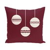 e by design Geo-Bulbs Decorative Holiday Print Throw Pillow
