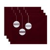 e by design Geo-Bulbs Holiday Print Placemat (Set of 4)