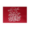 e by design Santa Baby Decorative Holiday Print Red Indoor/Outdoor Area Rug