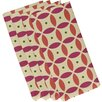 e by design Beach Ball Geometric Napkin (Set of 4)