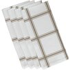 e by design Windowpane Plaid Napkin (Set of 4)