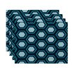 e by design Hex Appeal Geometric Placemat (Set of 4)