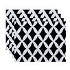 e by design Lattice Kravitz Geometric Placemat (Set of 4)