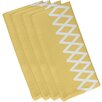 e by design Lace Up Geometric Napkin (Set of 4)