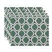 e by design Pebbles Geometric Placemat (Set of 4)