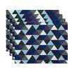 e by design Triangles Geometric Placemat (Set of 4)