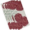 e by design Mums the Word Floral Napkin (Set of 4)