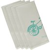 e by design Bicicleta Decorative Napkin (Set of 4)