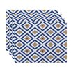 e by design Diamond Mayhem Geometric Placemat (Set of 4)