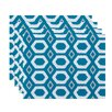 e by design More Hugs and Kisses Geometric Placemat (Set of 4)
