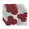 e by design Mums the Word Floral Placemat (Set of 4)