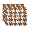 e by design Houndstooth Geometric Placemat (Set of 4)