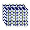 e by design Beach Ball Geometric Placemat (Set of 4)