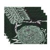e by design Flowers and Fronds Floral Placemat (Set of 4)