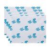 e by design Bicycles! Geometric Placemat (Set of 4)