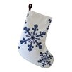 e by design Vail Snowflake Print Christmas Stocking