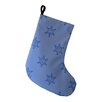 e by design Flurries Decorative Holiday Print Stocking