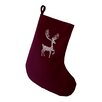 e by design Deer Crossing Decorative Holiday Print Stocking