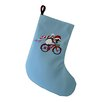 e by design Pedaling Penguin Decorative Holiday Print Stocking