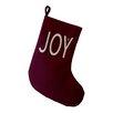 e by design Joy Filled Season Word Print Christmas Stocking