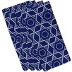 e by design Star Quilt Holiday Geometric Print Napkin (Set of 4)