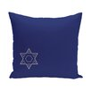 e by design Holiday Geometric Print Star of David Throw Pillow