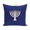 e by design Holiday Geometric Print Light The Menorah Throw Pillow