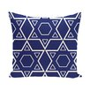 e by design Holiday Geometric Print Star Quilt Throw Pillow