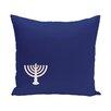 e by design Holiday Geometric Print Menorah Minor Throw Pillow