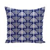 e by design Holiday Geometric Print Menorah Abstract Throw Pillow