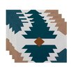 e by design Mesa Geometric Print Placemat