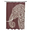 e by design Inky Animal Print Shower Curtain